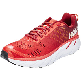 Hoka One One Clifton 6 Chaussures de trail Homme, poppy red/rio red